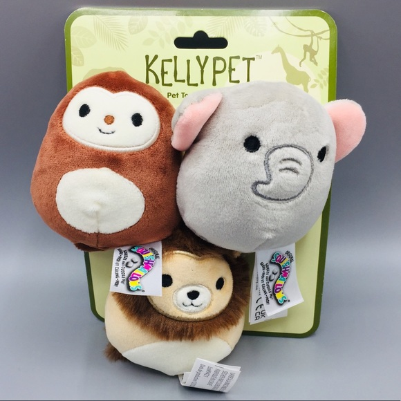 Squishmallows Kelly Jungle Pet Toys Set of 3